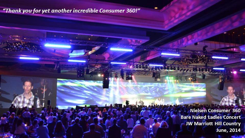 Nielsen Consumer 360 Bare Naked Ladies Concert JW Marriott Hill Country June, 2014 Nielsen Consumer 360 Bare Naked Ladies Concert JW Marriott Hill Country June, 2014