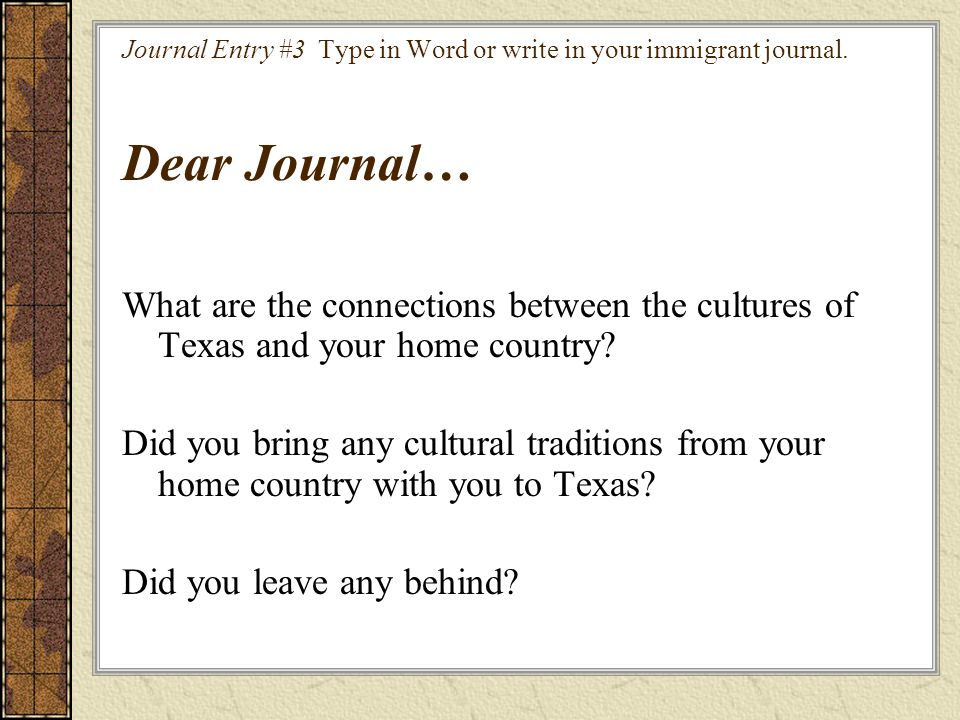 What are the connections between the cultures of Texas and your home country.