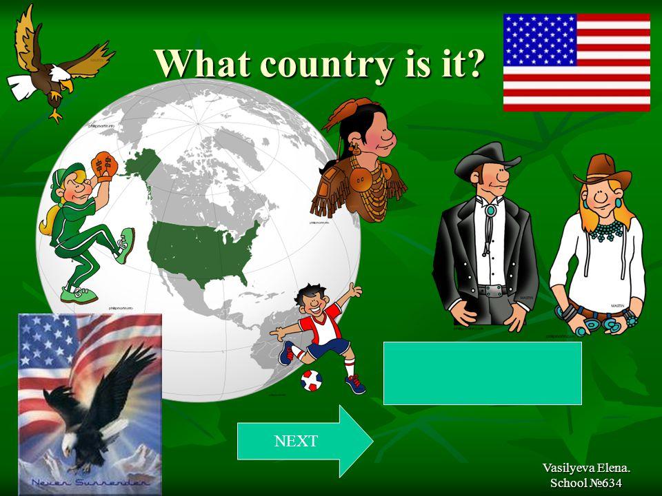 What country is it What country is it Vasilyeva Elena. School №634 NEXT America