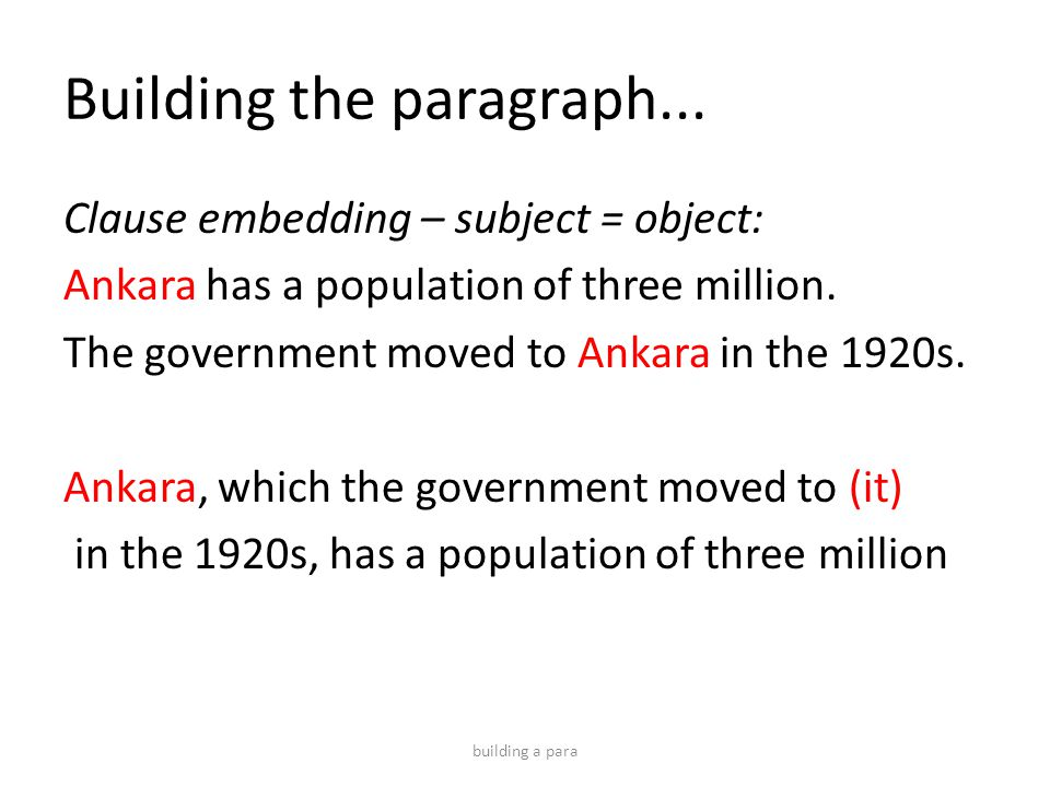 Building the paragraph...