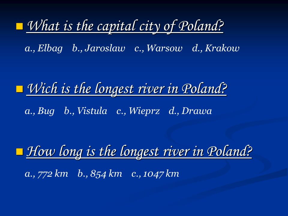 What is the capital city of Poland. What is the capital city of Poland.