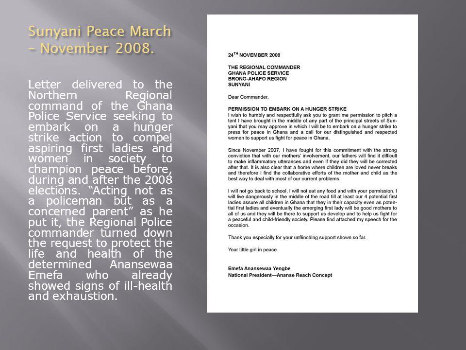 Sunyani Peace March – November 2008.