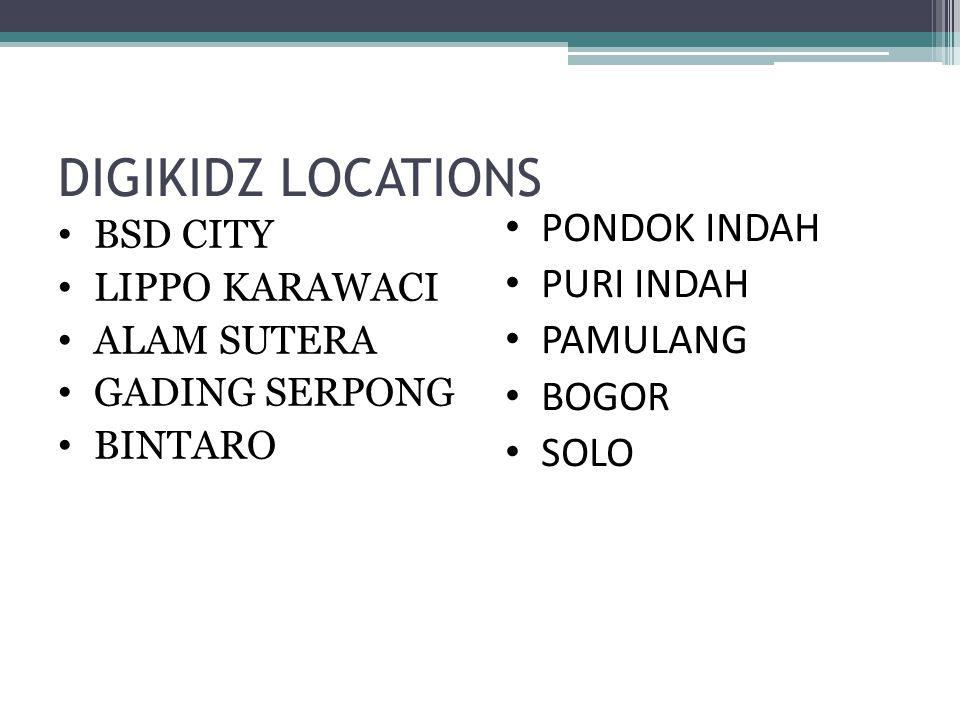 DIGIKIDZ LOCATIONS BSD CITY LIPPO KARAWACI ALAM SUTERA GADING SERPONG BINTARO PONDOK INDAH PURI INDAH PAMULANG BOGOR SOLO
