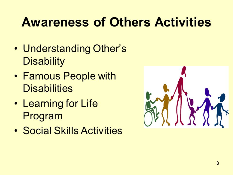 8 Awareness of Others Activities Understanding Other's Disability Famous People with Disabilities Learning for Life Program Social Skills Activities
