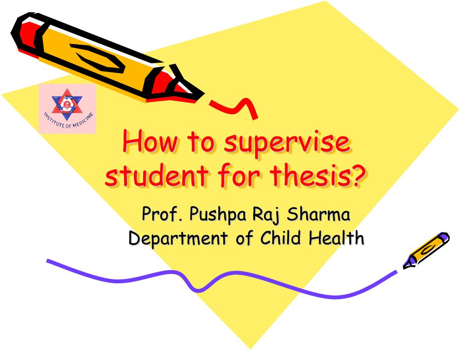 Contents of this presentation Part one –Model of supervision.