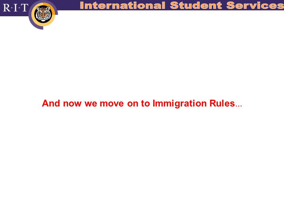 And now we move on to Immigration Rules …