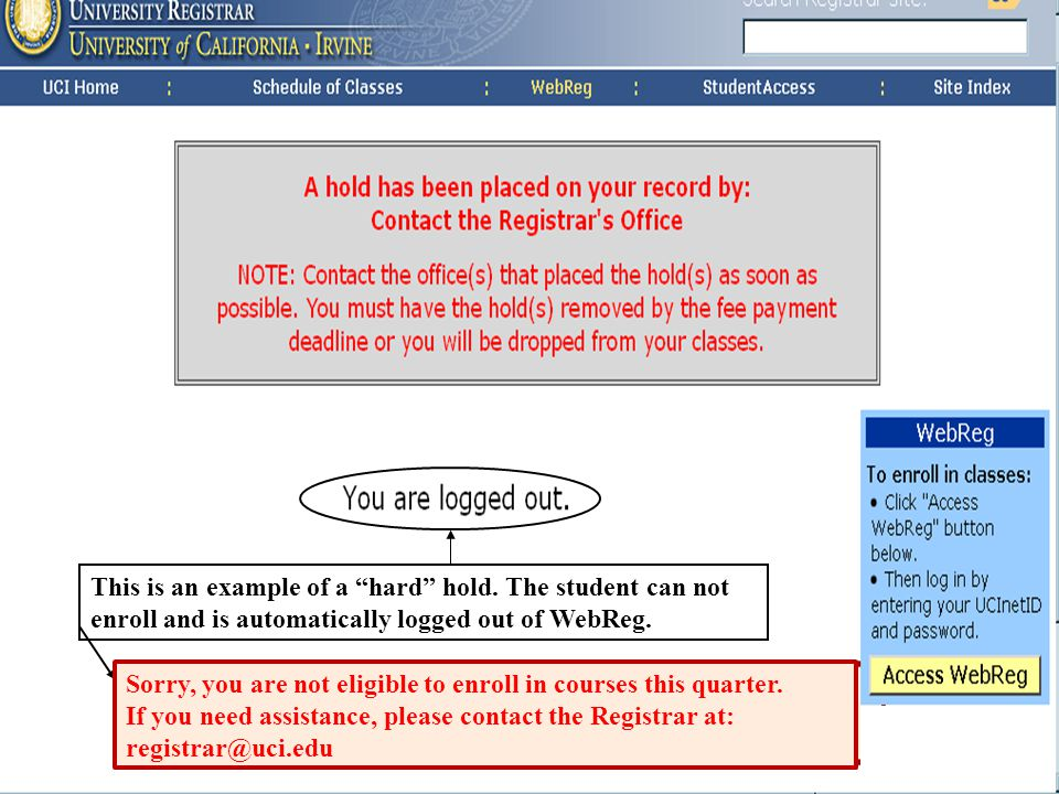 University Registrar Waitlist a preferred discussion through the waitlist menu* as indicated.