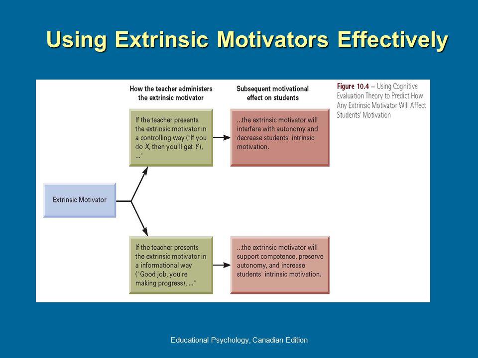 Educational Psychology, Canadian Edition Using Extrinsic Motivators Effectively