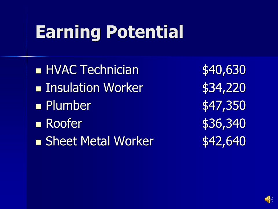 Earning Potential From 2007 Bureau of Labor Brick mason$45,800 Brick mason$45,800 Carpenter$41,260 Carpenter$41,260 Construction Manager$85,830 Constr