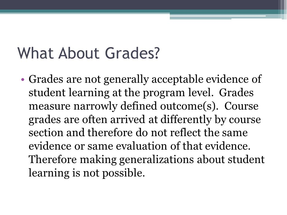 What About Grades.