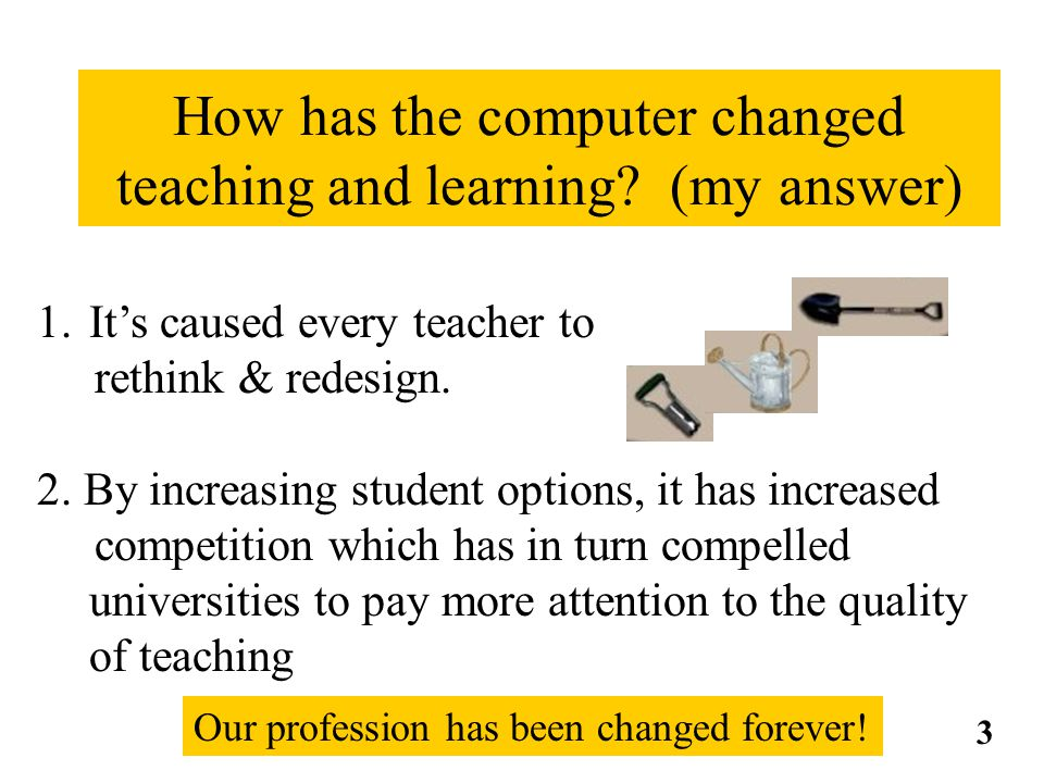 How has the computer changed teaching and learning.