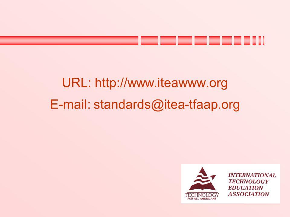 URL: http://www.iteawww.org E-mail: standards@itea-tfaap.org