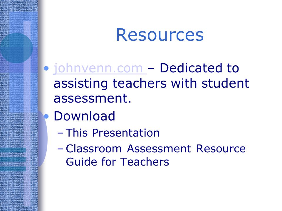 Use checklists (rubrics) to make grading complicated assignments easy.