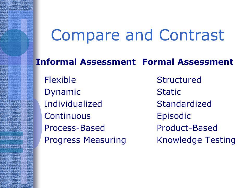 Informal Assessment Provides a direct link between assessment and teaching.