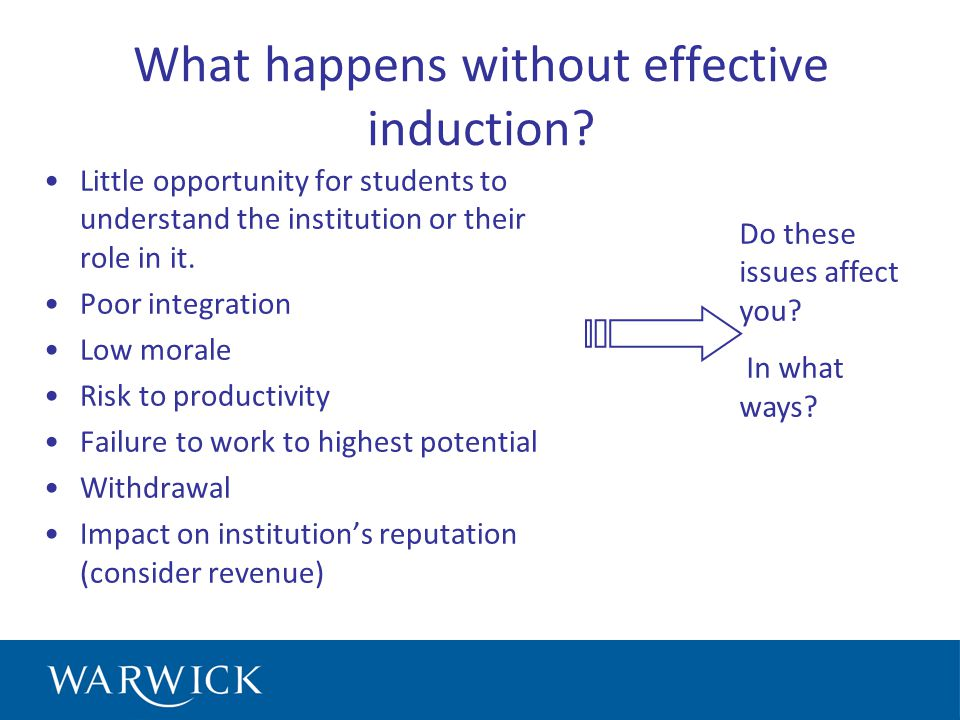 What happens without effective induction.