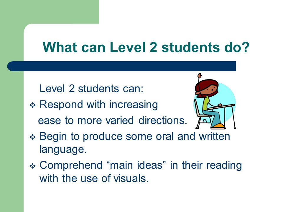 What can Level 3 students do.