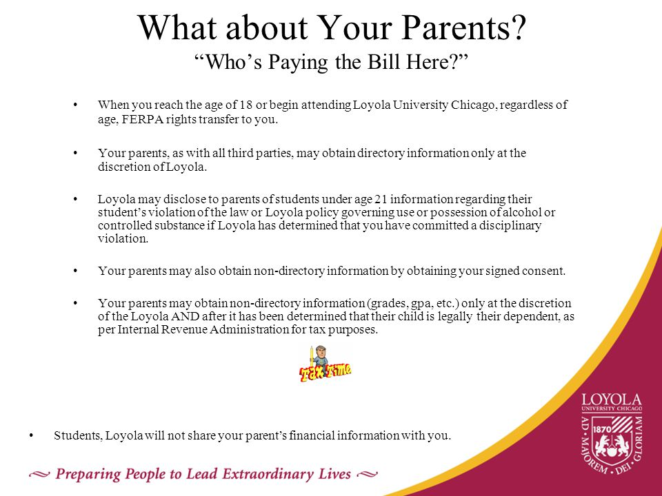 What about Your Parents.