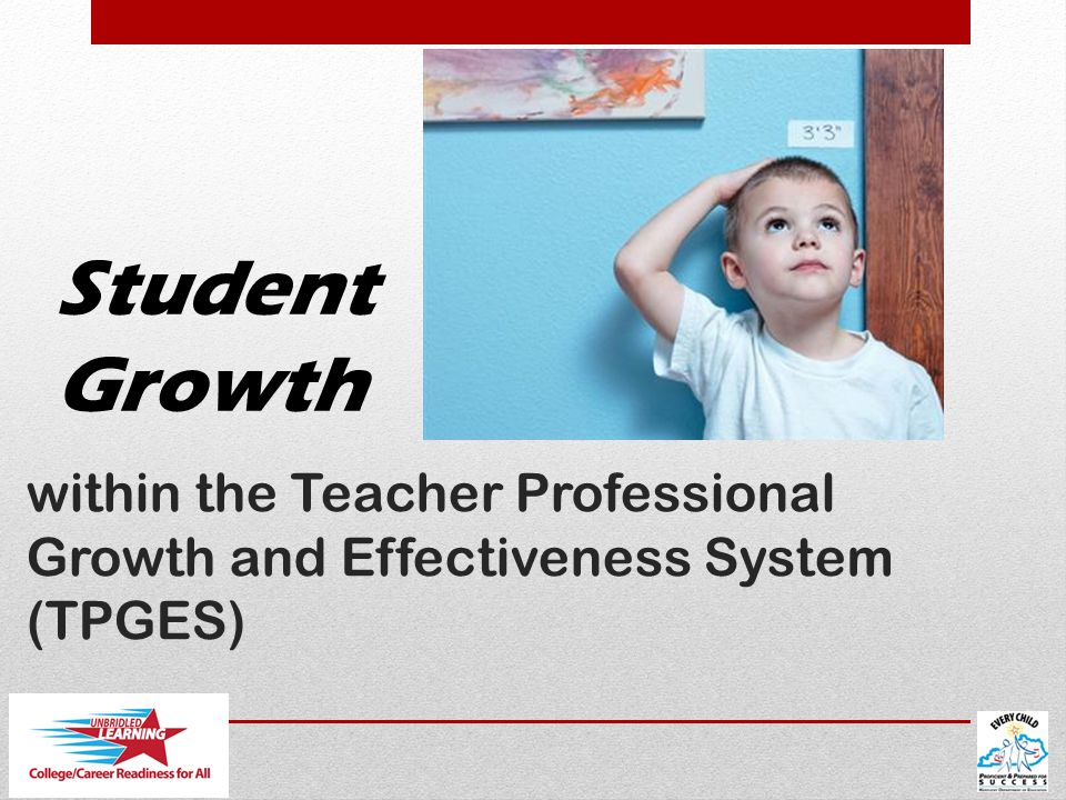 within the Teacher Professional Growth and Effectiveness System (TPGES) Student Growth