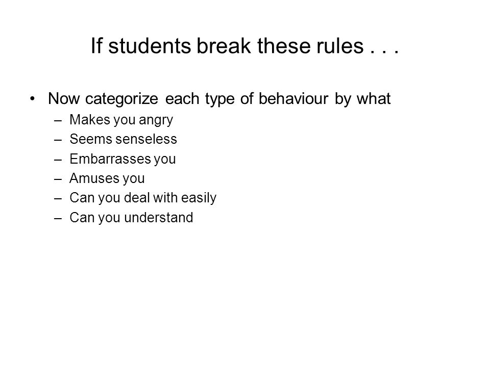 If students break these rules...