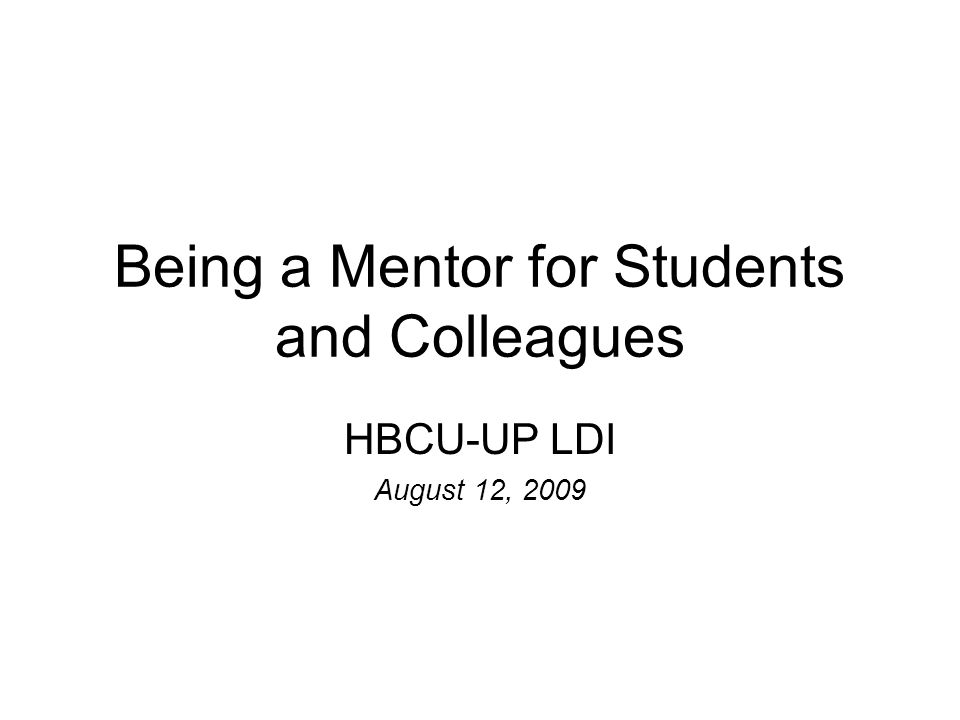 Mentor Ancient Relationship Wise and Trusted Counselor by Homer Mentor = Faculty Advisor What is a Mentor?