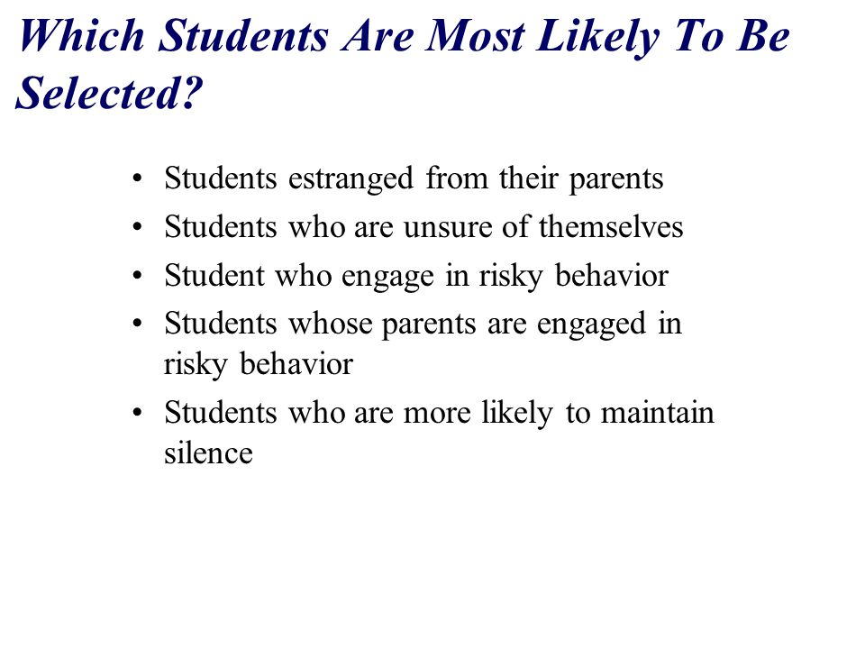 Which Students Are Most Likely To Be Selected.