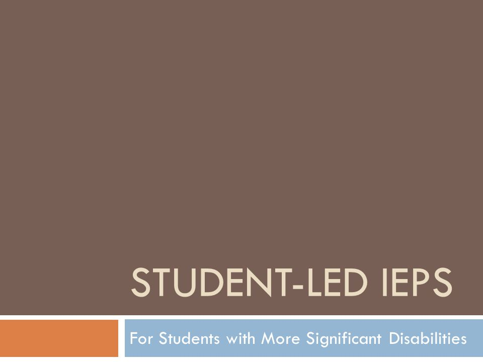 What exactly is a student-led IEP meeting.