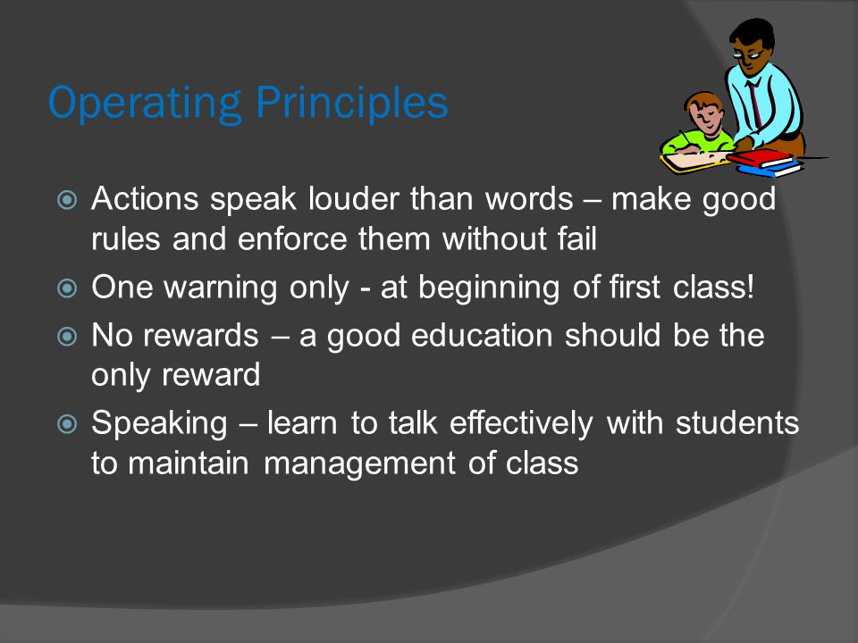 Student Accountability  Have students copy rules and sign them  Teacher draws up student rules  Explain exactly what the rules mean  The student is responsible for their behaviour good or bad