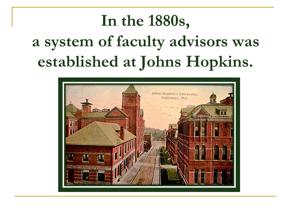 Advising is a process with a long and dignified history in colleges and universities… it is a most cordially hated activity by the majority of college teachers. Personnel and Guidance Journal, 1953