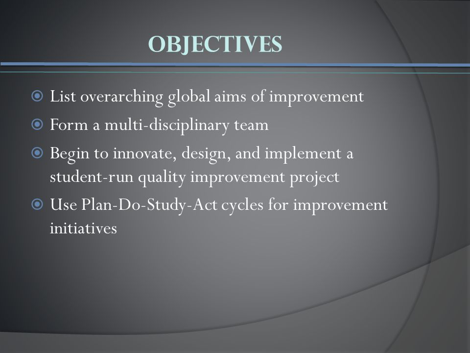 Outline I.Introduction to Quality Improvement II.