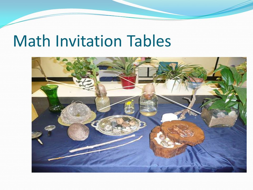 Math Invitation Tables