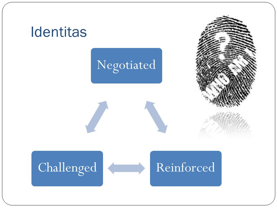 Identitas NegotiatedReinforcedChallenged