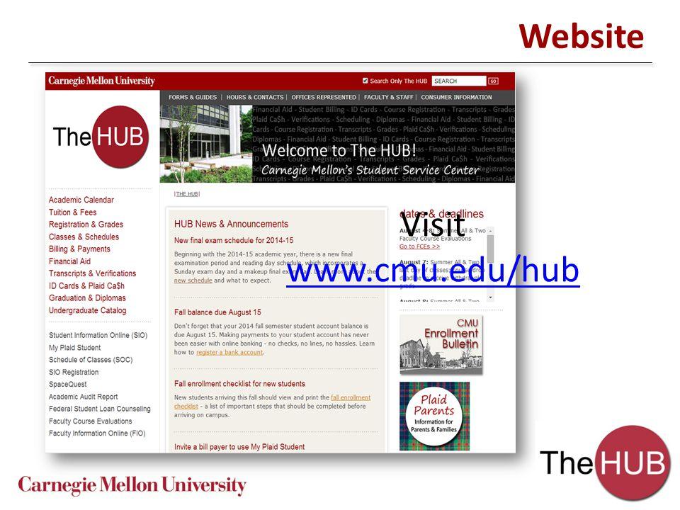 Website Visit www.cmu.edu/hub