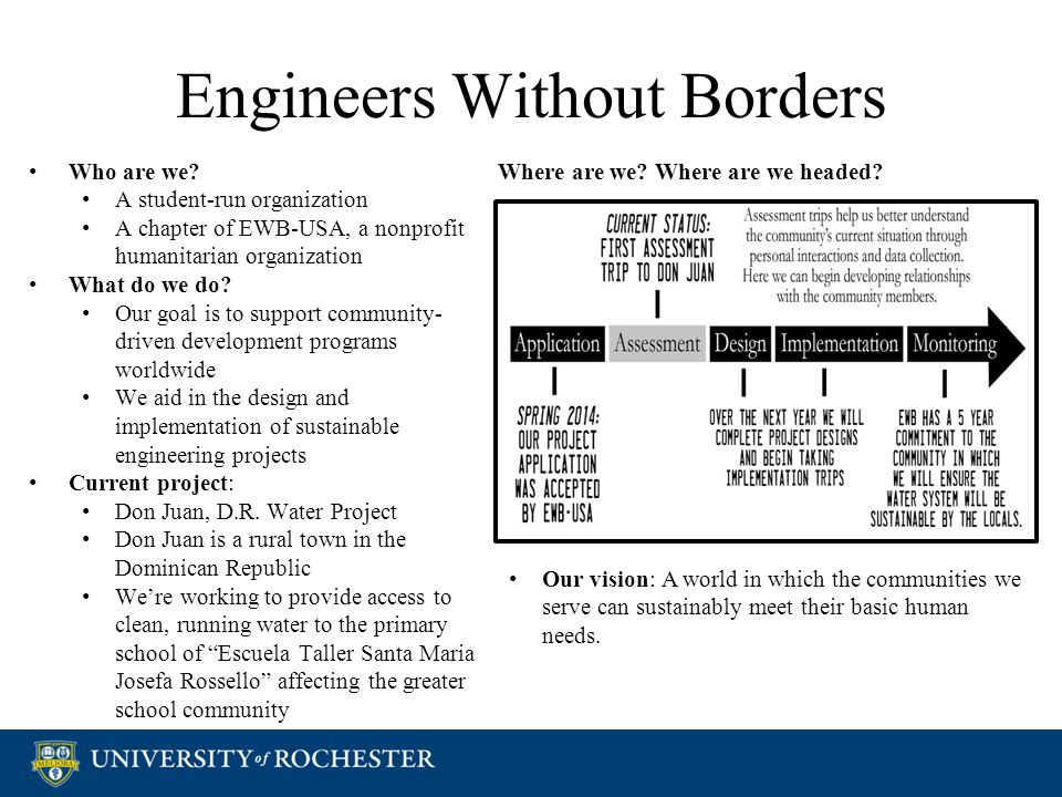 Engineers Without Borders Who are we.