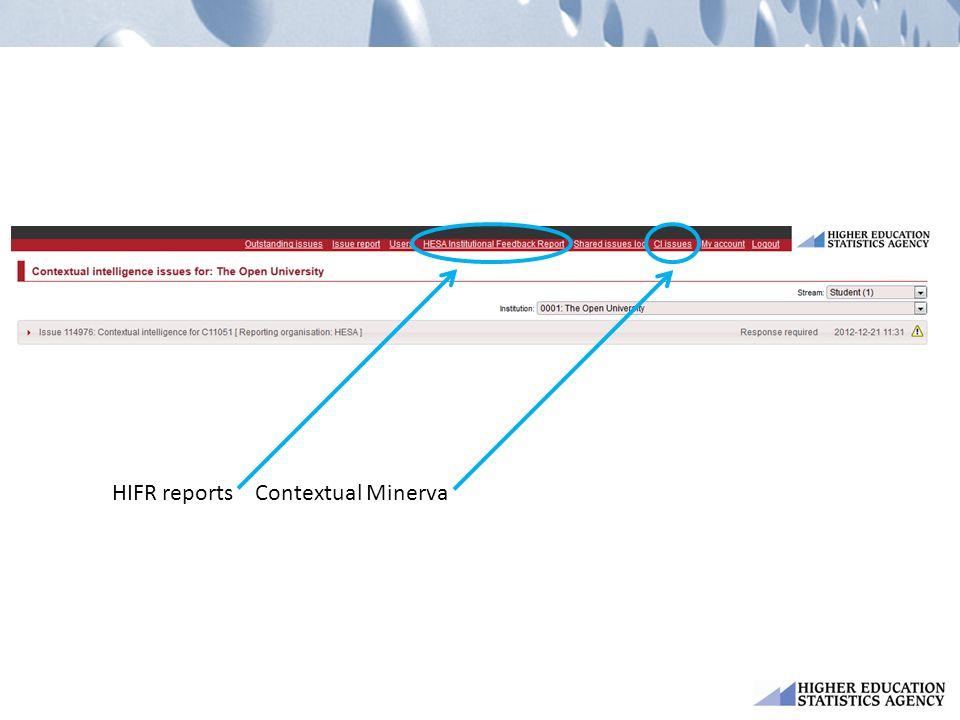 HIFR reportsContextual Minerva