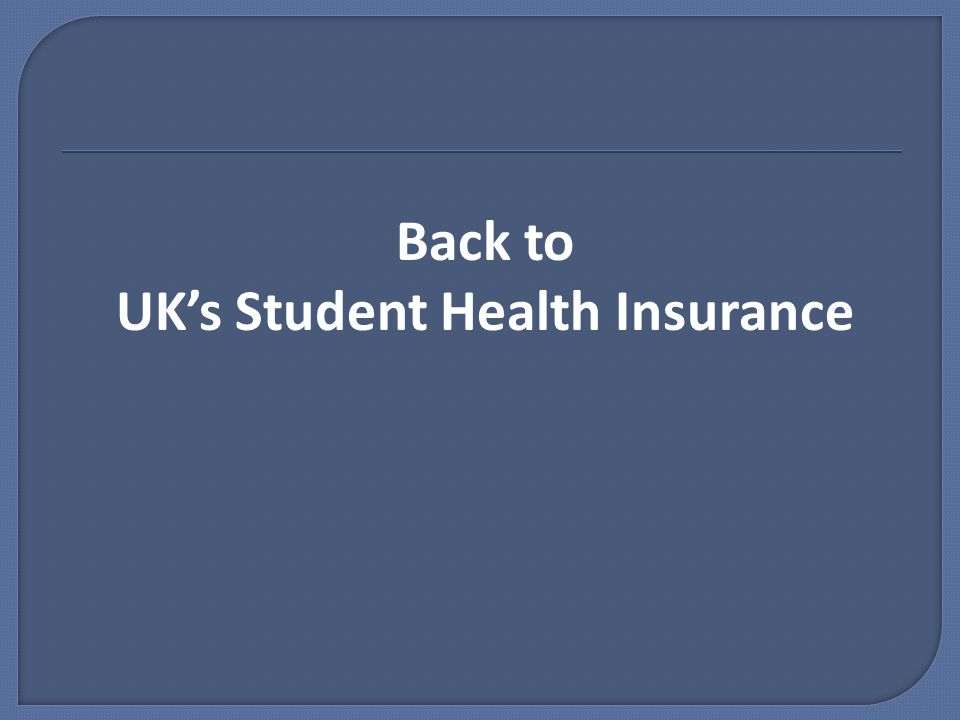 Back to UK's Student Health Insurance