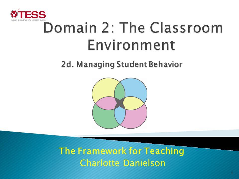 The Framework for Teaching Charlotte Danielson 2d. Managing Student Behavior 1