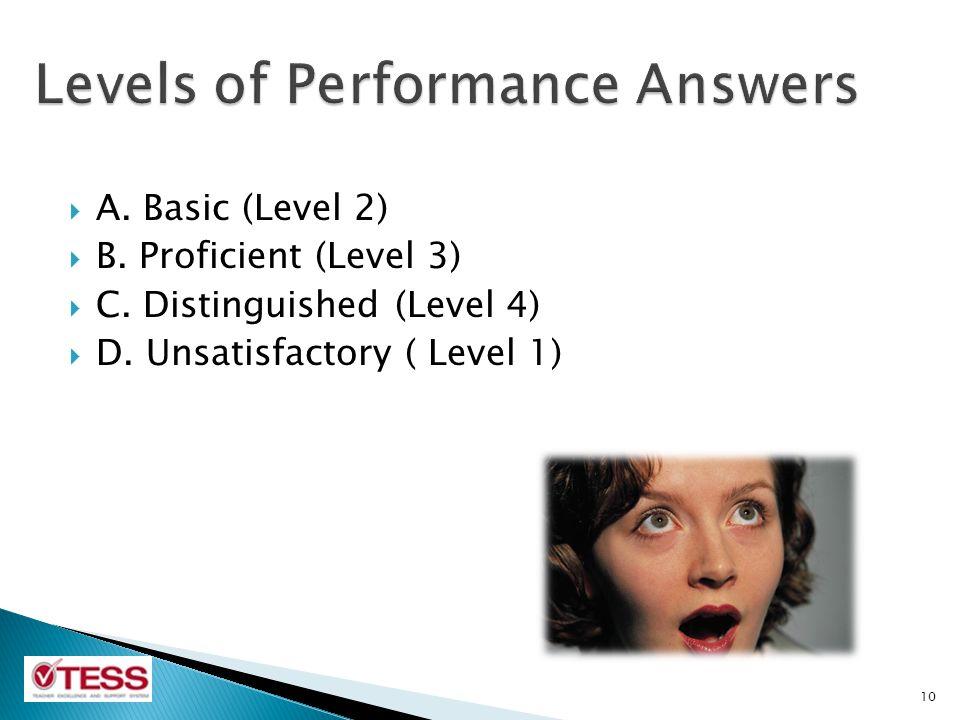  A.Basic (Level 2)  B. Proficient (Level 3)  C.