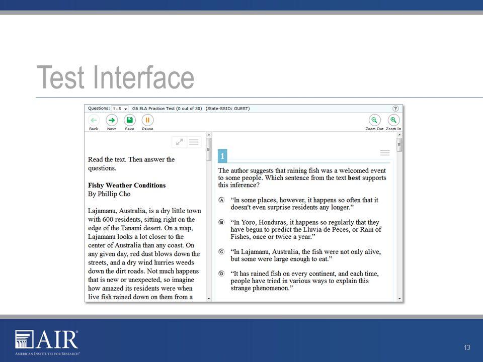 Test Interface 13