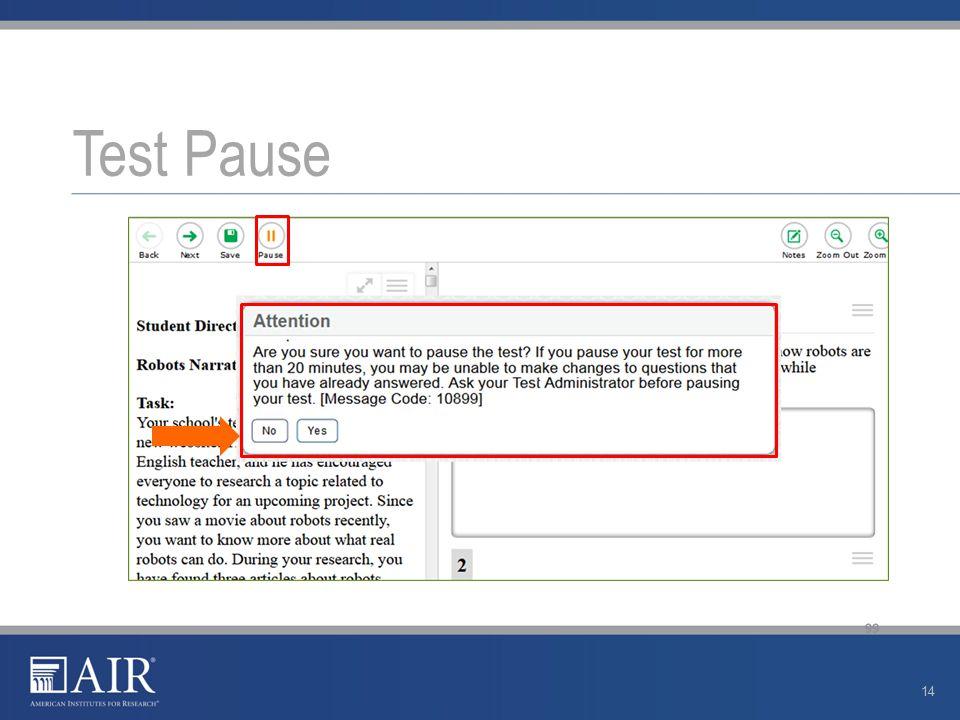 Test Pause 14