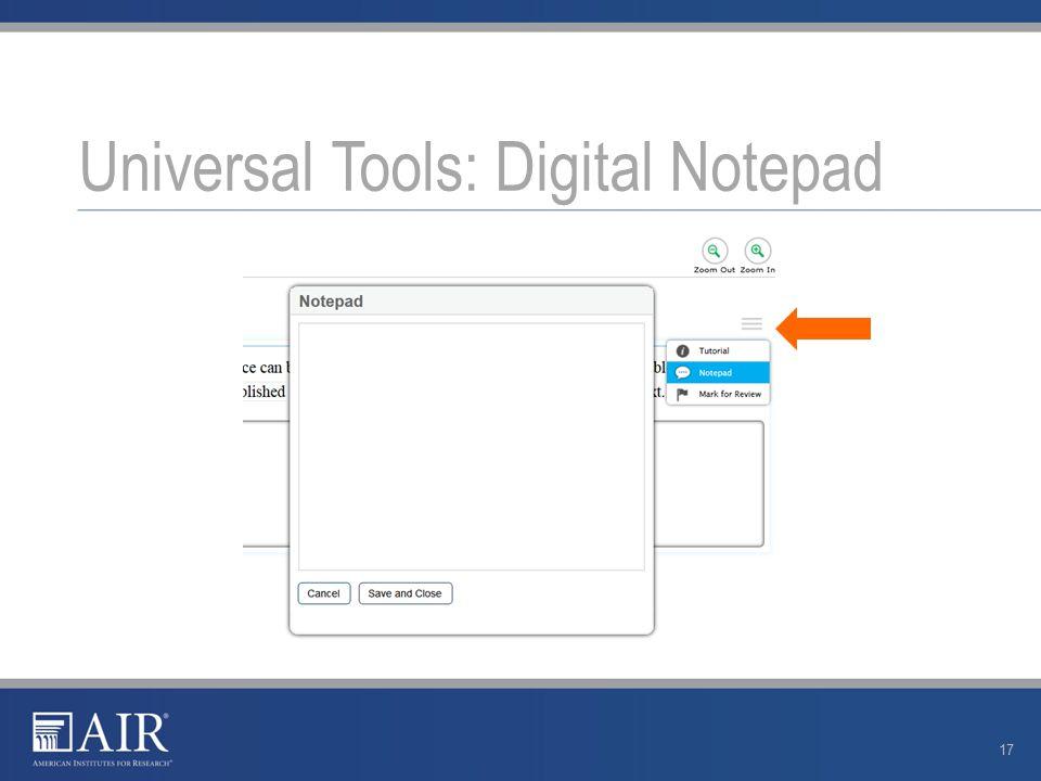 Universal Tools: Digital Notepad 17