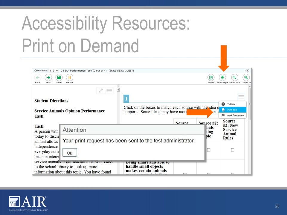 Accessibility Resources: Print on Demand 26