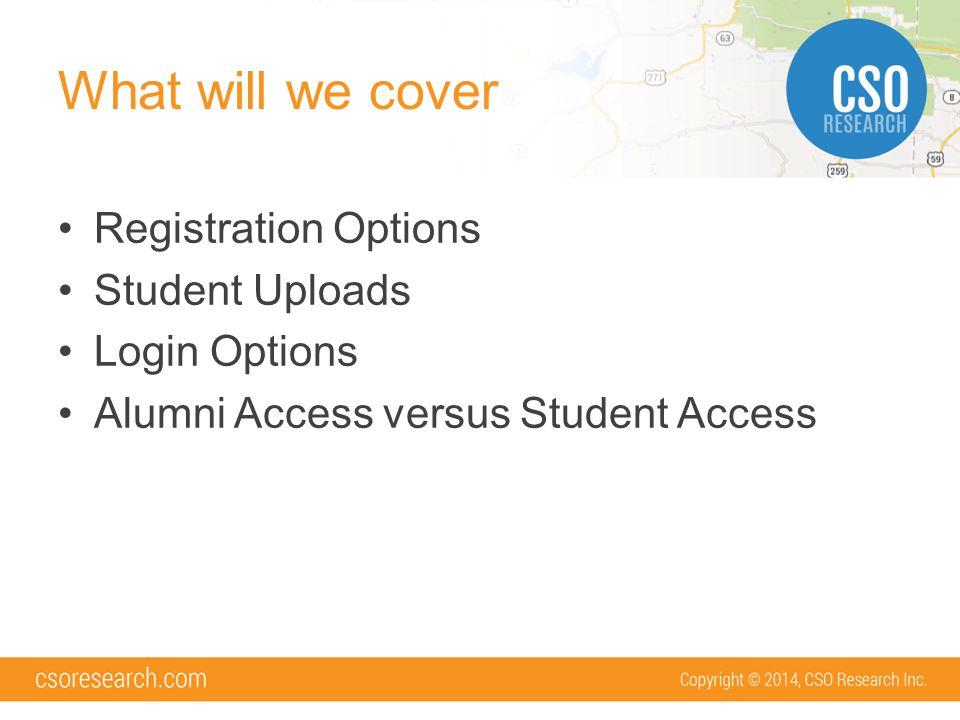 Alumni vs Student Will alumni be using your system.