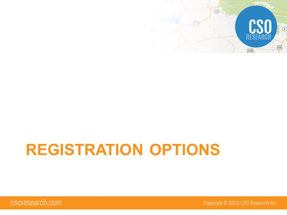 Registration Options There are 3 different ways student accounts can be created in the system: –Open Registration –Restricted Registration –No Registration