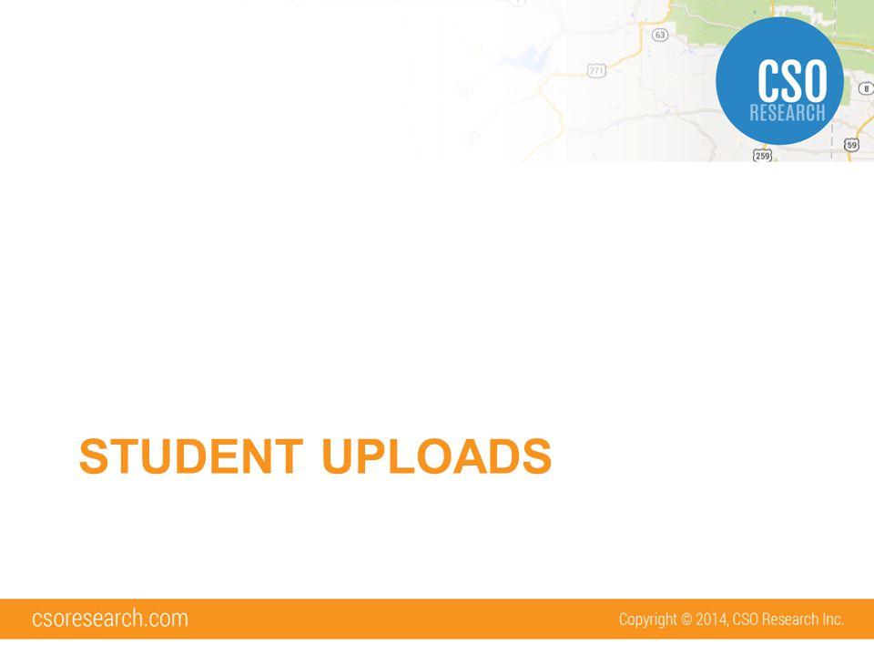 Why use student uploads.