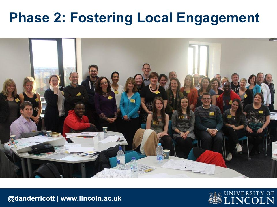 @danderricott | www.lincoln.ac.uk Phase 2: Fostering Local Engagement