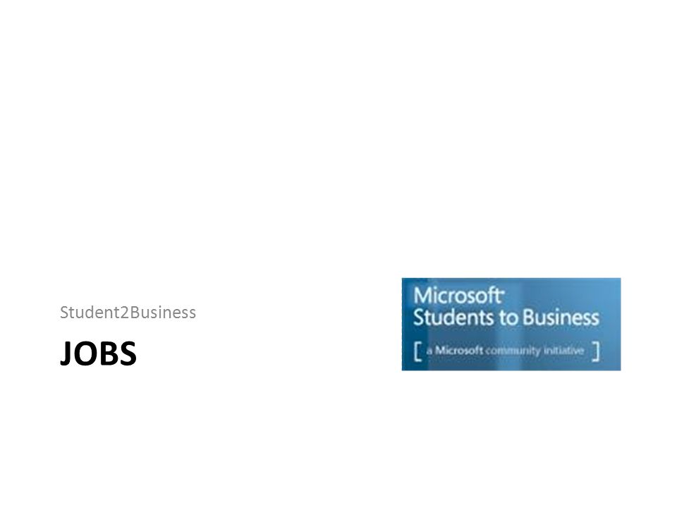 JOBS Student2Business