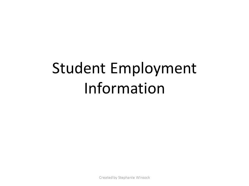 Accessing Student Employment Log onto e-MU, highlight the Student Services tab and select Student Employment from the drop down list.