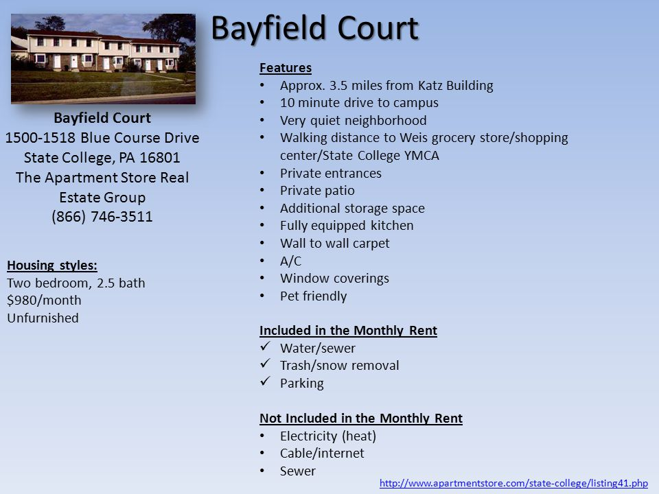 Bayfield Court Features Approx.
