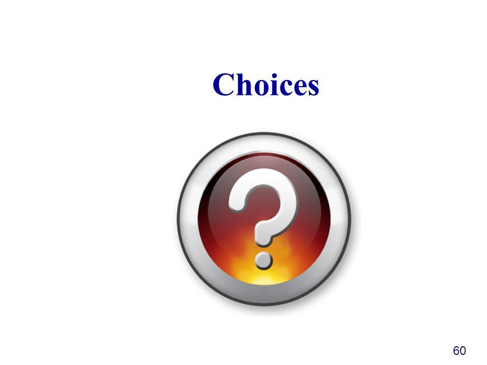 Choices 60