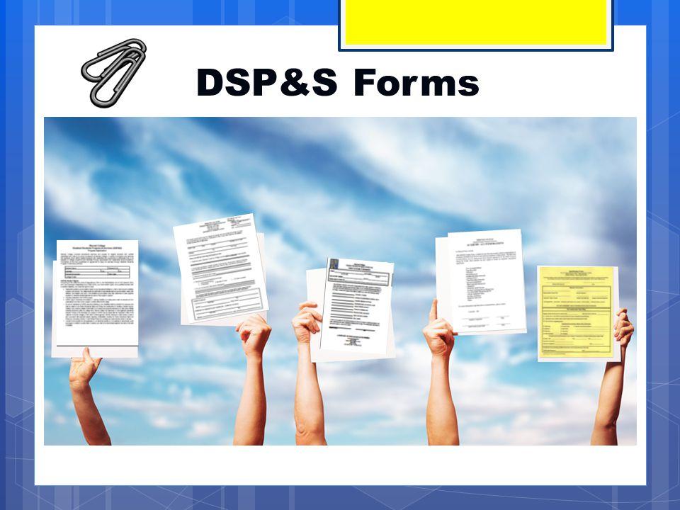 DSP&S Disability Verification